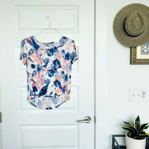Zara Watercolor High Low Tee